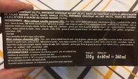 Mini colosses double 6x60ml chocolat / vanille caramel - Ingredients