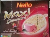 Maxi batonnet 4x100ml vanille caramel enrobage chocolat - Product