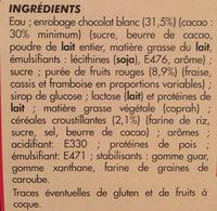 Maxi batonnet 4x100ml vanille caramel enrobage chocolat - Ingredients