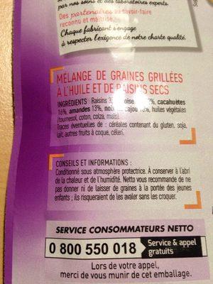 Mélange Graines & Raisins - Ingredients
