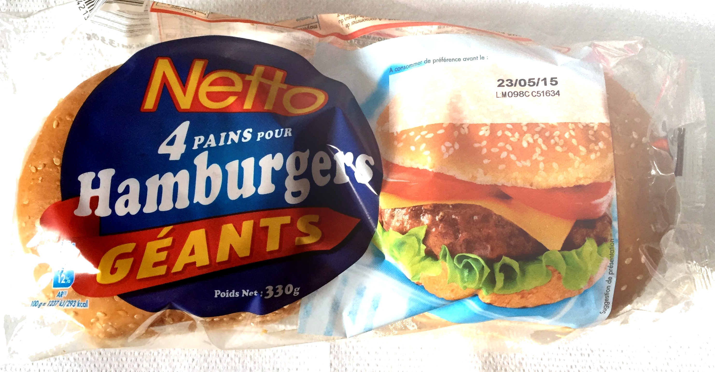 4 Pains pour Hamburgers Géants - Product - fr