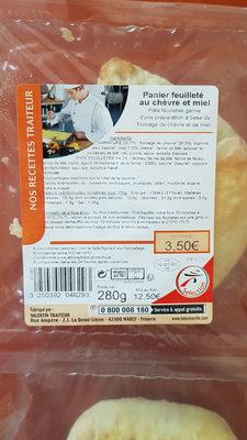 Panier feuilleté au chèvre et miel - Ingredients - fr