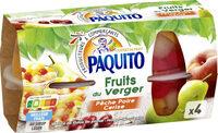 Fruits du verge pêche poire cerise au sirop léger - Produit - fr
