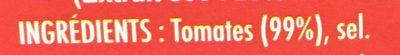 Double concentré de tomates - Ingredients - fr