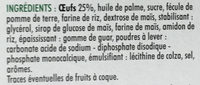 Coquilles aux oeufs - Ingrédients