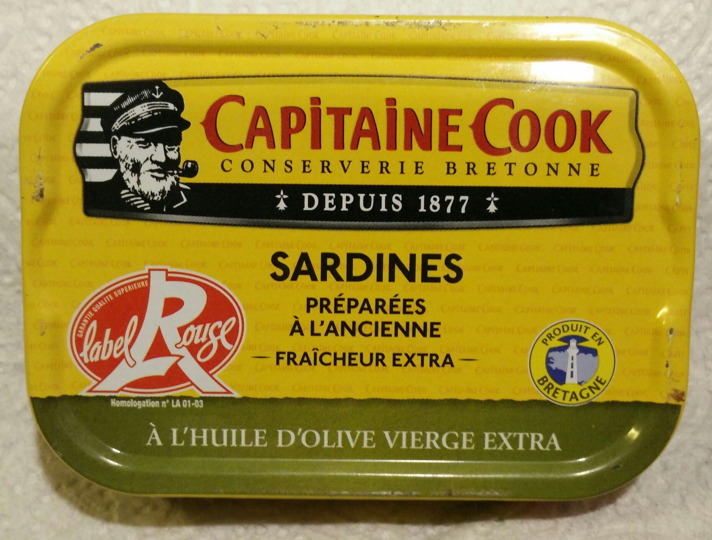 Sardines préparées à l'ancienne fraîcheur extra à l'huile d'olive vierge extra - 产品 - fr
