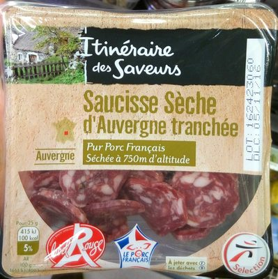 Saucisse sèche d'Auvergne tranchée - Product