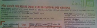 2 Tartes aux poireaux - Ingrediënten - fr