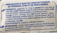 12 bâtonnets fourrés ail et fines herbes - Ingredients - fr