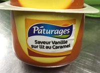 Crème Dessert saveur Vanille sur Lit au Caramel - Producte - fr
