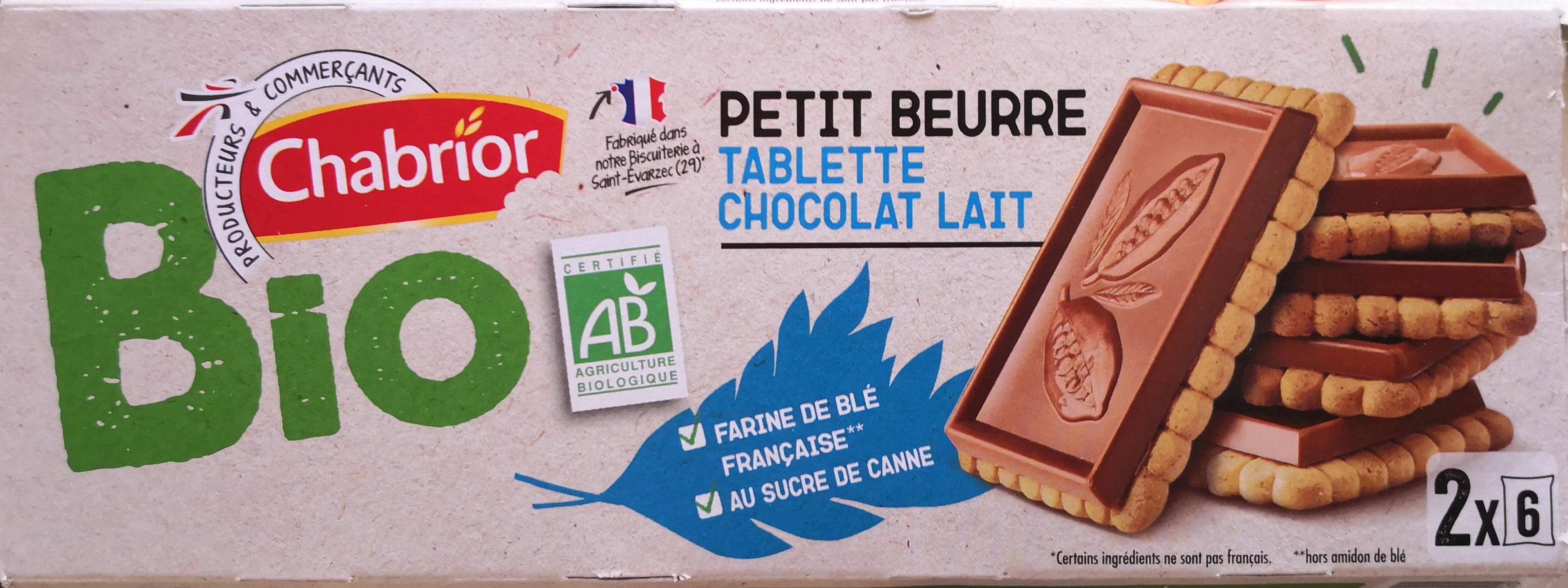 Petit Beurre avec tablette de chocolat au lait BIO - Product - fr