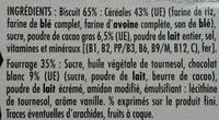 Crica 2 choco - Ingrédients - fr