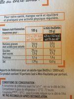 40 mini feuilletes - Informations nutritionnelles