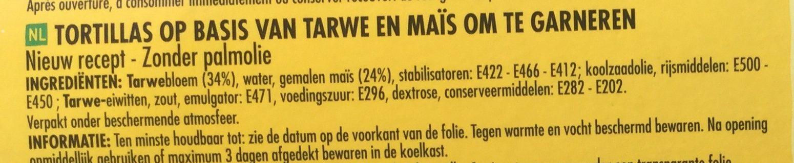 Tortillas de maïs 320 g - Ingrediënten - nl