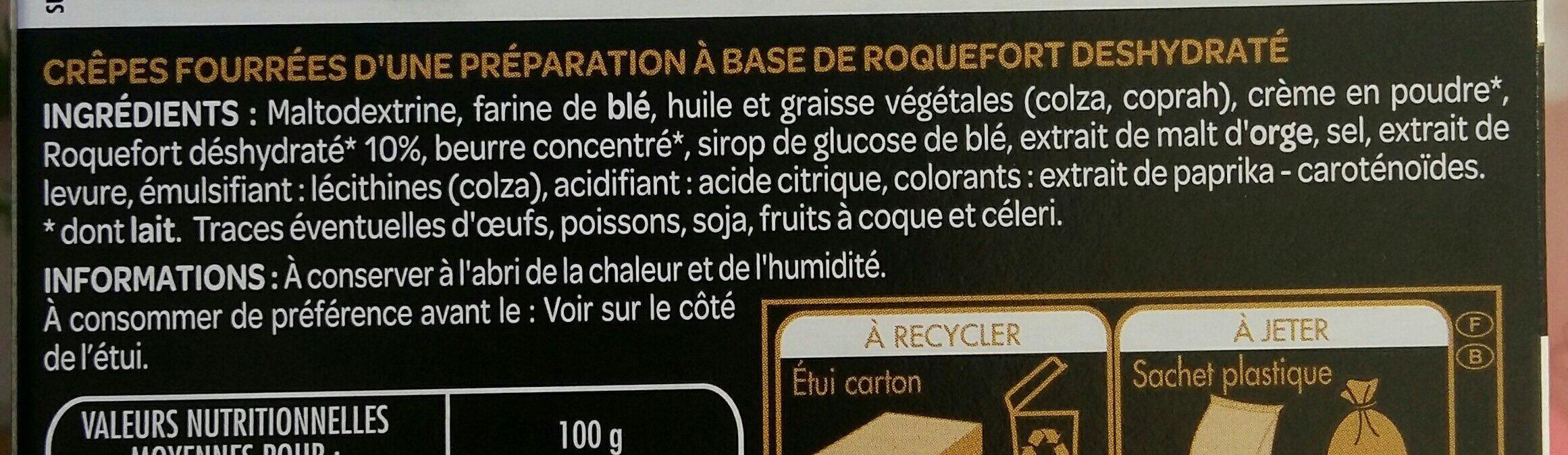 Mini crêpes Roquefort - Ingrediënten - fr