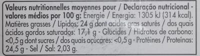 Edam Holland Les Tranchettes - Voedingswaarden - fr