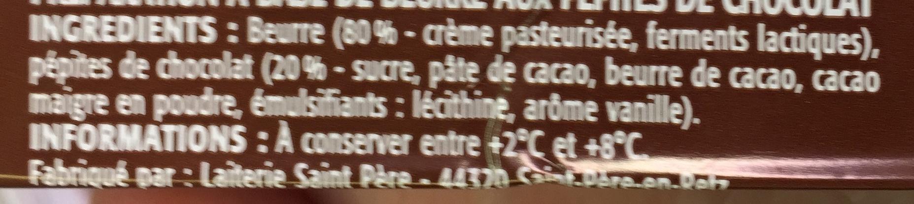 Pépites de Chocolat Tartine et Cuisine - Ingredients