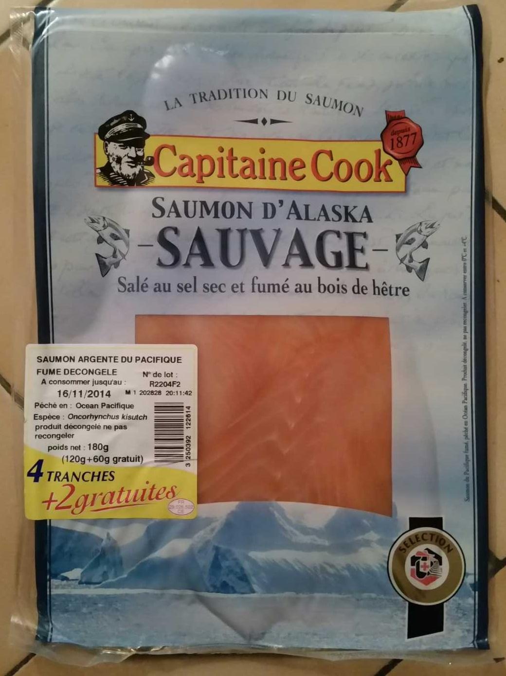 Saumon d 39 alaska sauvage capitaine cook 180 g 120g 60g - Prix du saumon ...