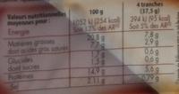 Saucisson à l'Ail Tranché - Informations nutritionnelles - fr