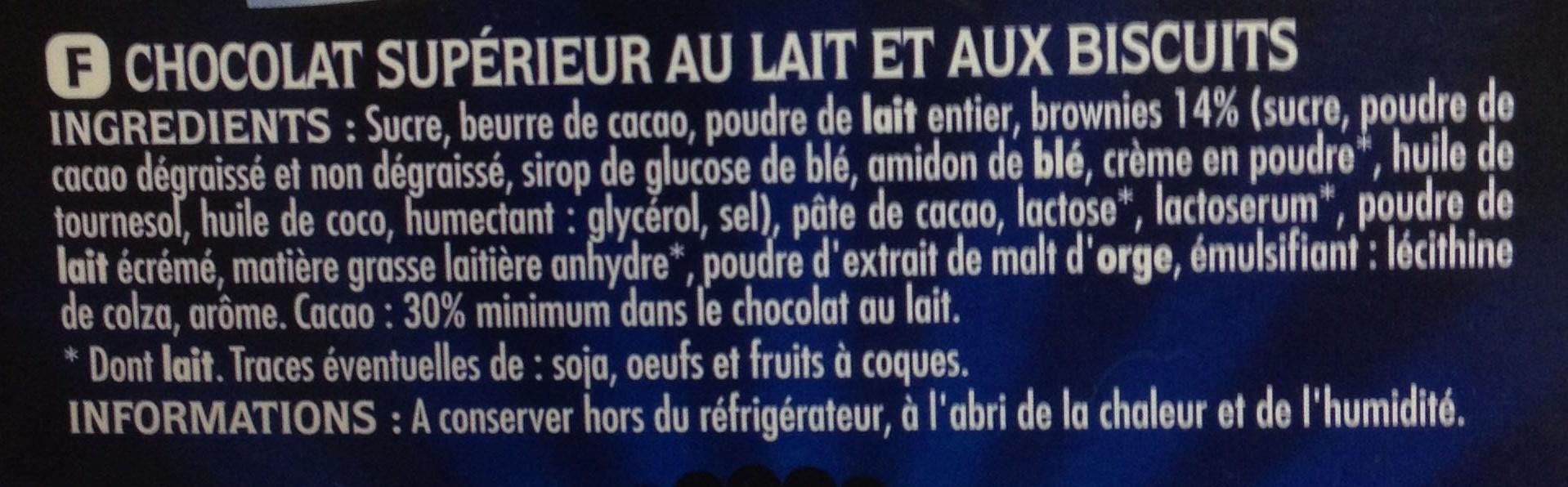 Brownie Addict Lait - Ingrédients