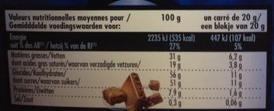 Brownie Addict Lait - Informations nutritionnelles