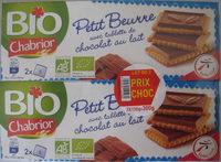 Petit Beurre avec tablette de chocolat au lait BIO (lot de 2) - Produit - fr