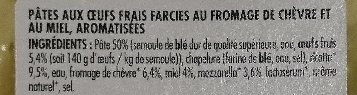 Petit Girasole au Chèvre et au Miel - Ingrédients - fr
