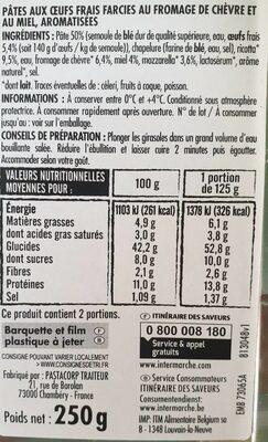 Petit Girasole au Chèvre et au Miel - Informations nutritionnelles - fr
