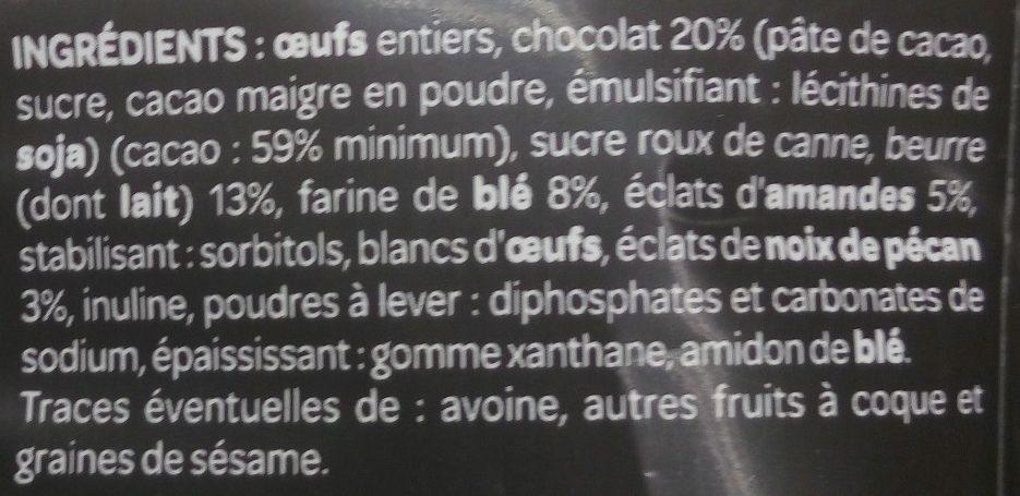 Mini Moelleux au Chocolat - Ingrédients - fr