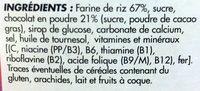 Riz soufflé chocolaté - Ingredients - fr