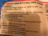 Filet de Colin d'Alaska - Ingrediënten - fr