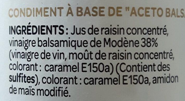Le supreme Douceur balsamique - Ingredients