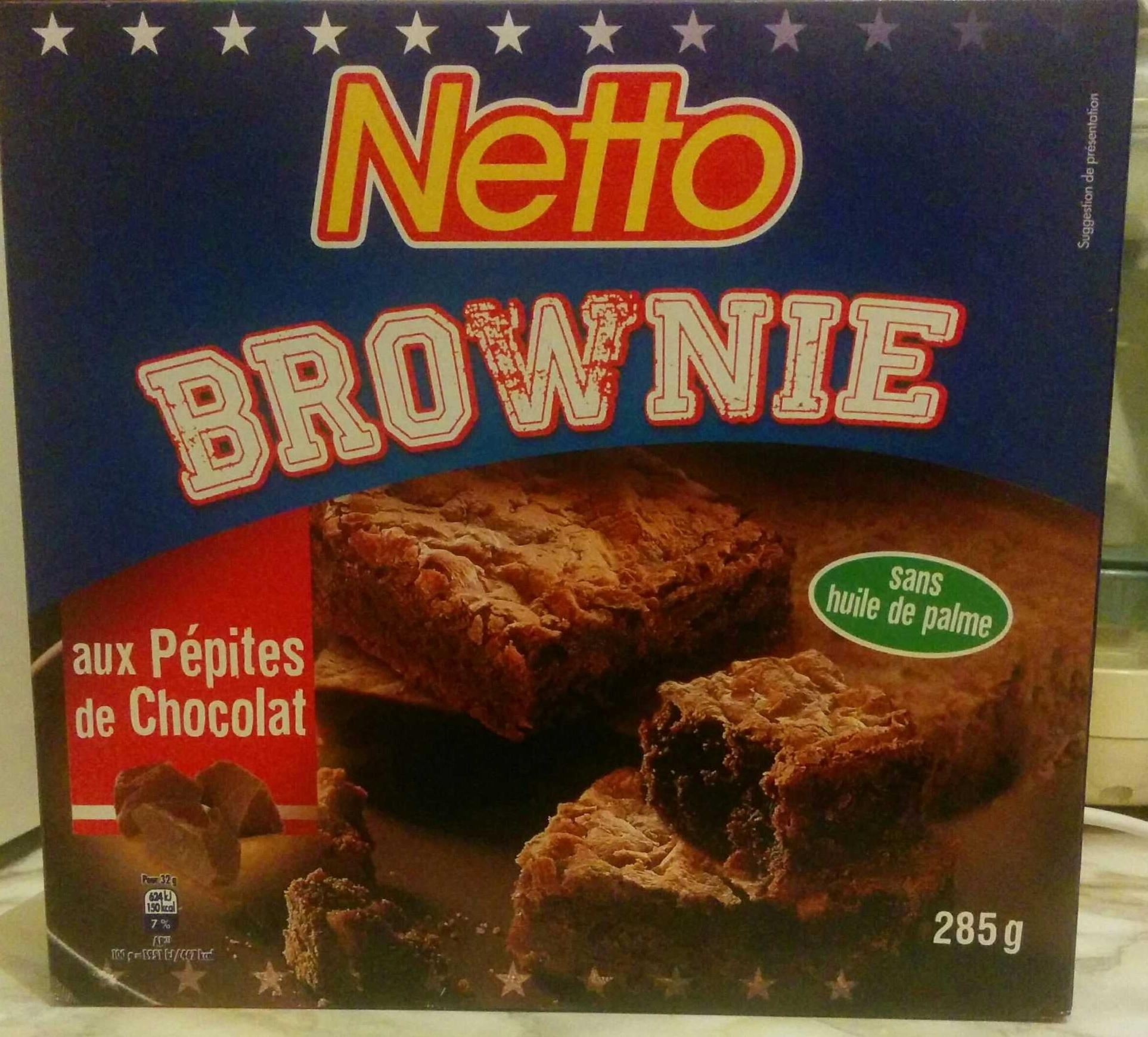 brownie aux p pites de chocolat netto 285 g. Black Bedroom Furniture Sets. Home Design Ideas