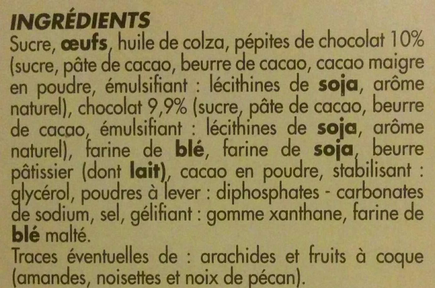 Brownie aux pépites de chocolat - Ingrédients