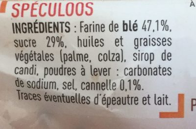 speculoos - Ingredients