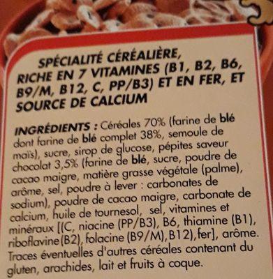 Crousti cookies - Ingredients - fr