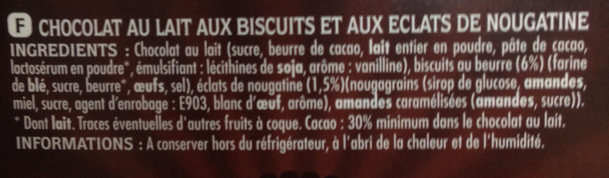 Cookies Addict Lait - Ingrédients