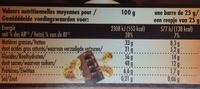 Cookies Addict Lait - Informations nutritionnelles