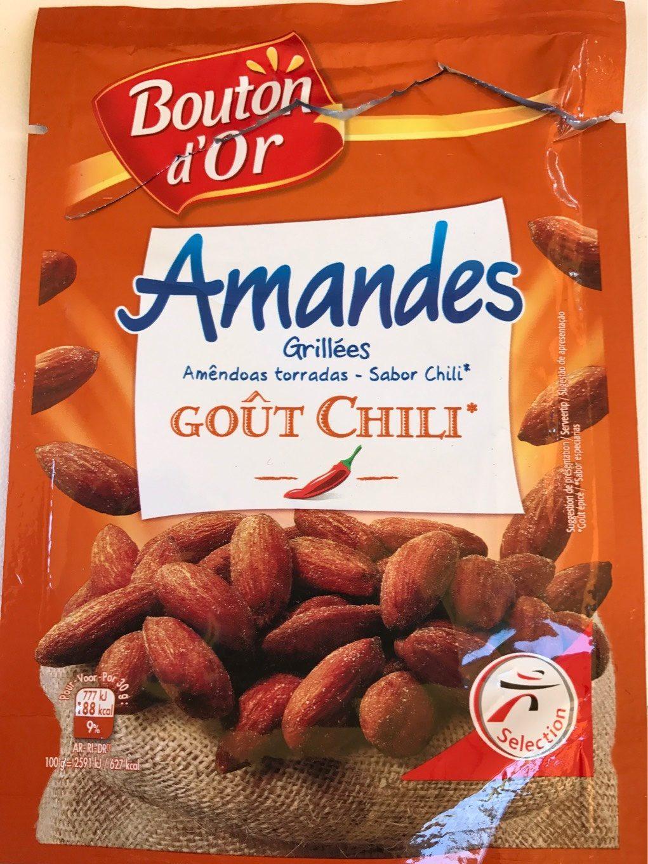 Amandes grillées goût chili le sachet de 100 g - نتاج - fr