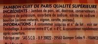 Mon Paris - Ingrédients