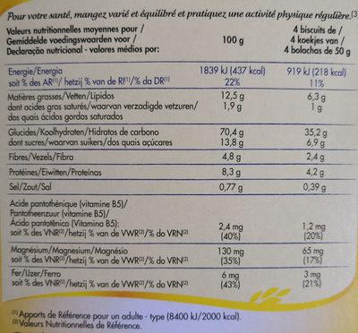Petit déj matin gourmand -30% de sucre - Informations nutritionnelles - fr