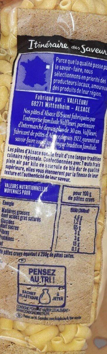 Coquillettes - Voedingswaarden - fr