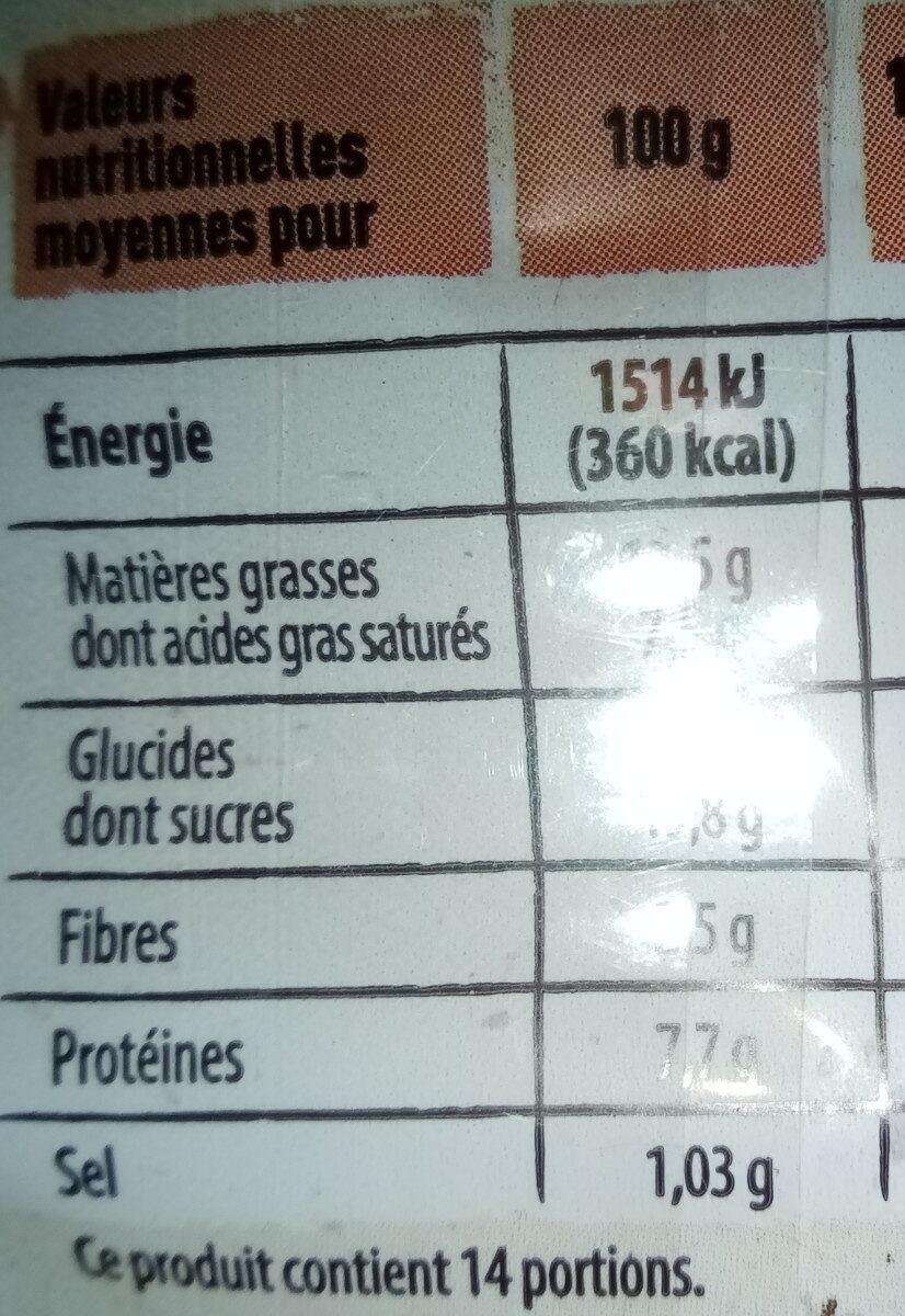 Gâche tranchée aux pépites de chocolat - Nutrition facts - fr
