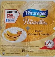 Crème dessert saveur Banane Flambée Paturages - Product - fr