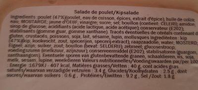 poulet kip - Informations nutritionnelles - fr