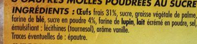 Gaufres molles poudrées au sucre - Ingrédients