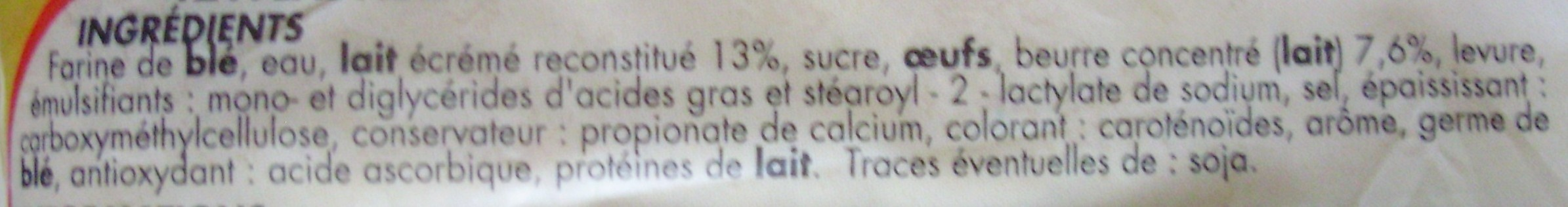 12 Pains au lait - Pur Beurre (Offre Spéciale) - Ingrédients - fr
