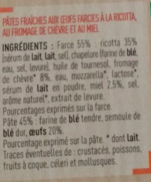 Petit Girasole - Chèvre et Miel - Ingrédients