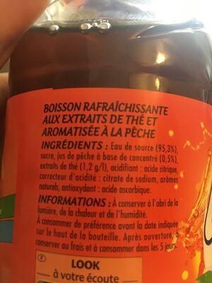 Boisson iced tea saveur pêche - Ingrédients - fr