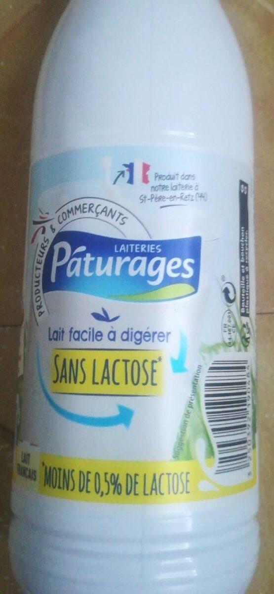 Lait Réduit en Lactose Demi écrémé Pâturages - Product